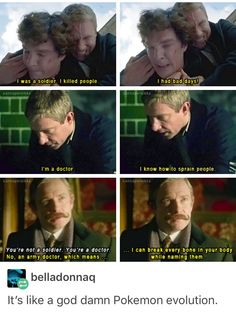 And people wonder why go well with Sherlock.you can protect him while he does everything else Sherlock Fandom, Sherlock John, Sherlock Holmes Bbc, Jim Moriarty, Sherlock Holmes Wallpaper, Supernatural Fandom, Quotes Sherlock, Sherlock Bbc Funny, Johnlock