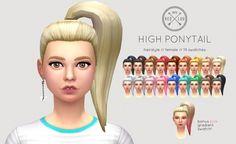 HIGH PONYTAIL at Kedluu • Sims 4 Updates