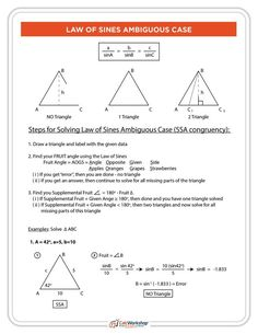 solving triangles how to solve case 2