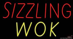 Sizzling Wok Real Neon Glass Tube Neon Sign,Affordable and durable,Made in USA,if you want to get it ,please click the visit button or go to my website,you can get everything neon from us. based in CA USA, free shipping and 1 year warranty , 24/7 service