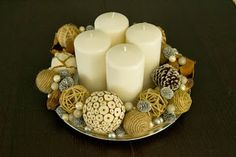 modern interpretation of an advent wreath. Advent Wreath Prayers, Christmas Advent Wreath, Winter Christmas, Winter Holidays, Christmas Decorations, Advent Wreaths, Christmas Ideas, Winter Time, Wreath Crafts
