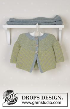 Baby Knitting Patterns Wear Little Fern / DROPS Baby – jacket and pants in 'Alpaca' (Frog and … Baby Knitting Patterns, Baby Cardigan Knitting Pattern, Knitted Baby Cardigan, Toddler Sweater, Knit Baby Sweaters, Knitting For Kids, Pants Pattern, Baby Patterns, Free Knitting