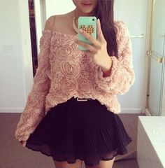 sweater cute floral sweet belt skirt blouse mini skirt flowers crop tops sexy summer outfits sun smartphone green gold black pink 3d rose top pink 3d rose women floral top sweater women fall outfits floral top floral sweater back to school phone cover off the shoulder off the shoulder sweater lovely warm warm fall warm winter ring necklace party party outfits girl girly sweatshirt skins jewels clothes women floral fashion znu shirt pink flowers pleeeease
