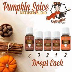 Pumpkin Spice Diffuser Blend Young Living t Blend Essential Oils 101, Essential Oil Diffuser Blends, Young Living Essential Oils, Diffuser Recipes, Perfume, Living Oils, At Least, Pumpkin Spice, Independent Distributor