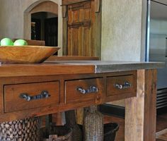 Tuscan KItchen Island by michael demay company