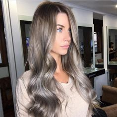"1,391 Likes, 33 Comments - MELBOURNE HAIR BLOGGER (@melbournehairblogger) on Instagram: ""A S H • P E R F E C T I O N Image via @kirralongmuir @trendz_hair #ashblonde #silverhair…"""