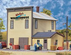 Walthers Cornerstone HO Scale Building/Structure Kit Wally's Warehouse #WalthersCornerstone