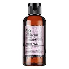 For Lorri: Divine Calm Relaxing Massage Oil with lavender, chamomile, sesame, and almond oils-- for long back massages.