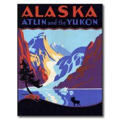L'Alaska vintage Carte Postale | Zazzle