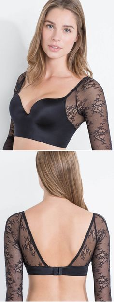 Long lace sleeve push up bra - Limited Edition