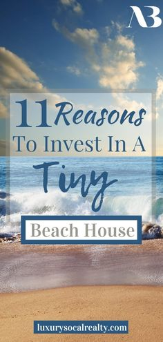 Small Beach House//Small Beach House Interior//Small Beach House Exterior//Small Beach House Decor//Small Beach House Tiny Cottages//Small Beach House Surf Shack//Small Beach House Seaside//Small Beach House Ideas//Discover 11 Reasons to Invest in a Tiny Beach House curated by Joy Bender Real Estate Agent Compass San Diego REALTOR®️ #beachhousedecor #beachdecor #tinyhouse #tinyhouseliving