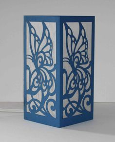 Laser cut Luminary 37 by StarrDesign on Etsy Woodworking Jigs, Woodworking Projects, Paper Lanterns, Paper Lamps, Thermocol Craft, Laser Cnc, Butterfly Centerpieces, Art Deco Party, Table Lamp Wood