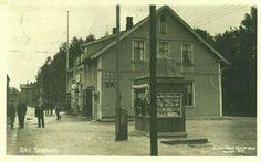 Akershus fylke Ski jernbanestasjonen brukt 1921 Utg Carl Normann, Hamar