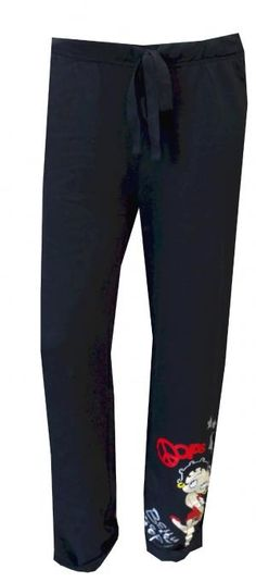 Betty Boop Black French Terry Sweat Pants