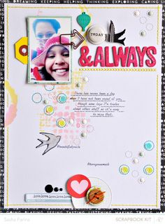 #papercraft #scrapbook #layout    Today & Always by Sasha