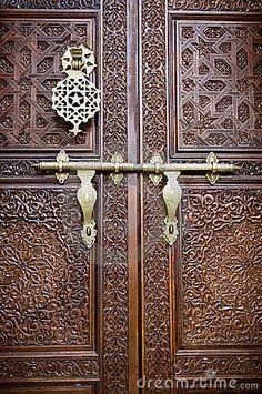 Photo about Islamic style door with details background. Image of malay, door, decor - 7935158 Vintage Doors, Antique Doors, Design Marocain, Moroccan Doors, Art Et Design, Black Door Handles, Main Door Design, Cool Doors, Door Accessories