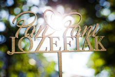 #topper ze sklejki 6mm malowany na złoto :) #dekoracja #ślubna #weddng #decor #caketopper #dodatek #ślub #wesele #plexi #tort #design #modern #gold #złoty #3D
