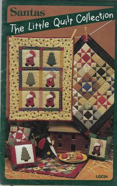Santa Christmas, Christmas Wreaths, Patchwork Quilt Patterns, Quilting Patterns, Embroidered Quilts, Book Quilt, Quilted Pillow, Mug Rugs, Pillow Design