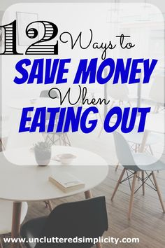 Do you love going out to eat but hate the bill? Going out to eat at a restaurant can be expensive. Here are 12 ways to save money when eating out.