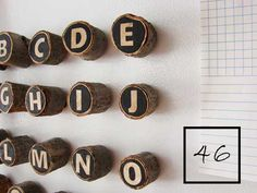 Neat idea. Could also do push pins. Upcycle Tree Branches and Logs - Living Vintage