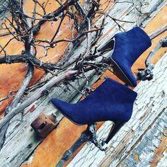 Bottines bleues - Vanessa Wu