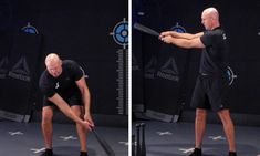 The two handed steel club side swing is a very unique exercise to the clubs. It is possible to perform the side swing with a kettlebell, but due to the large round mass of the kettlebell it makes the side swing a clunky movement which can be hazardous to the knees. Kettlebell, Two Hands, Pilates, Two By Two, Training, Australia, Exercise, Club, Workout