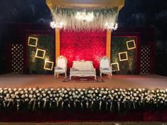 Bride Ankita Tells Us How She Planned Her Two Day Ahmedabad Wedding - Wedding Stage Decorations, Backdrop Decorations, Flower Decorations, Backdrops, Wedding Reception Backdrop, Reception Areas, Anniversary Dress, Wedding Stage Design, Wedding Dinner