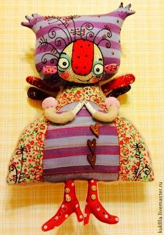 Коллекционные куклы ручной работы. Ярмарка Мастеров - ручная работа Милые розовые феечки. Handmade.