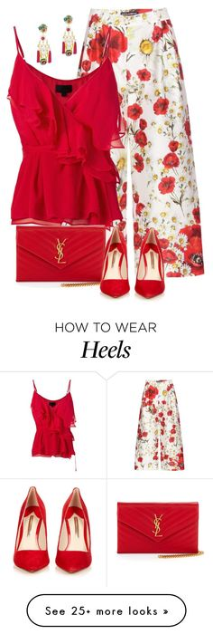 """""""Untitled #2111"""" by m-aigul712 on Polyvore featuring Dolce&Gabbana, Exclusive for Intermix, Mercedes Salazar, Yves Saint Laurent, Sophia Webster, TrickyTrend and culottes"""