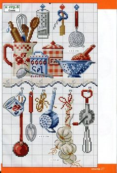 Cross Stitch Kitchen, Cross Stitch Love, Cross Stitch Pictures, Cross Stitch Needles, Cross Stitch Kits, Cross Stitch Designs, Cross Stitch Patterns, Cross Stitching, Cross Stitch Embroidery