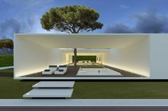 Very nice, clean and simple outdoor space. \ Catalunya Villa by JM Architecture \ Catalunya, Spain Minimal Architecture, Residential Architecture, Contemporary Architecture, Amazing Architecture, Interior Architecture, Open Space Architecture, Luxury Interior, Living Haus, Modern Villa Design