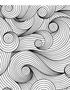 Calming Patterns for Adults Who Color - Live Your . Calming Patterns for Adults Who Color – Live Your Life in Color Series – Coloring Book Zone Abstract Coloring Pages, Pattern Coloring Pages, Coloring Book Pages, Coloring Sheets, Doodle Patterns, Color Patterns, Easy Zentangle Patterns, Tattoo Patterns, Life Line On Hand