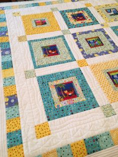 Baby Quilt - Jungle Animals Baby Quilt by birdsongquilts on Etsy
