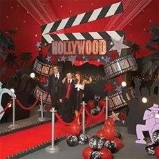 Go Hollywood With A Red Carpet Theme Use And Black Colors Polyvinyl