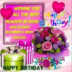 bunch of birthday greetings