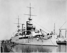 USS Kearsarge, the lead ship of her class of pre-dreadnought battleships, was a United States Navy ship, named after the sloop-of-war Kearsarge. Her keel was laid down by the Newport News Shipbuilding Company of Virginia, on 30 June 1896. She was launched on 24 March 1898, sponsored by the wife of Rear Admiral Herbert Winslow, and commissioned on 20 February 1900.