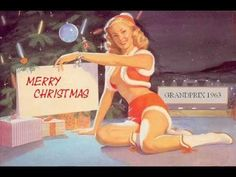Shop Naughty Christmas Message Pin Up Girl Holiday Postcard created by VintageBeauty. Personalize it with photos & text or purchase as is! Merry Christmas Baby, Naughty Christmas, Christmas Messages, Christmas Music, Retro Christmas, Christmas Girls, Christmas Stuff, Xmas, Christmas Time