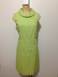 1960's Dress and Jacket lime green by TheTravelingTortoise on Etsy