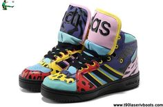 wholesale dealer 4ef5a 3e71a Best Gift Adidas X Jeremy Scott Big Tongue Shoes Color Fashion Shoes Store  Nike Kd Shoes