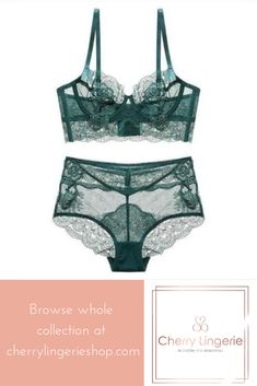 7e0eda9d1f7 Thin floral lace bra with underwire for extra support. High-waist panties  and long