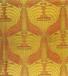 Art Nouveau/ Jugendstil textile pattern by Koloman Moser (1868 -1918) Austria. (Pattern)