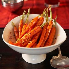 Honeyed Carrots Flavored with tangy lemon, honey, and a mild-flavored red hot pepper, these delicious whole carrots can be served as a side dish with many meals.