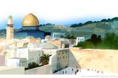 The Dome of the Rock and the Western Wall, Jerusalem - Jamey Christoph