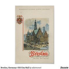 Breslau, Germany: Old City Hall Poster
