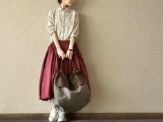 Image of Lovely Dot Shirt Cotton Linen Blouse Causel Tops Women Clothes Long Skirt Looks, Love Fashion, Autumn Fashion, Linen Blouse, Custom Clothes, Cotton Linen, Casual Looks, Blouses For Women, Long Sleeve Shirts