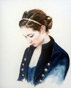 """Savannah in Blue""  8 x 10"" watercolor on ampersand aquabord"