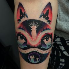 Amazing Princess Mononoke tattoo
