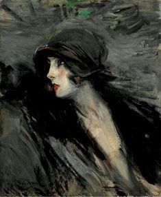 """""""Portrait de Suzy"""" de Giovanni Boldini (1842-1931, Italy)"""