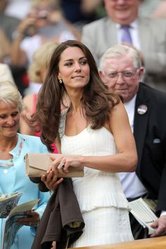 Catherine, Duchess of Cambridge attends the fourth round match between Andy Murray of Great Britain and Richard Gasquet of France on Day Seven of the Wimbledon Lawn Tennis Championships at the All England Lawn Tennis and Croquet Club on June 27, 2011 in London, England.