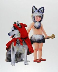 "Saatchi Art Artist Titti Garelli; Painting, ""Red Riding Hood"" #art"